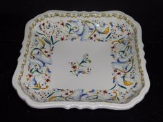 GIEN TOSCANA SQUARE DISH FRANCE #Gien French Country Cottage, Pottery, France, Dishes, Tableware, Ceramica, Tablewares, Flatware, Pots