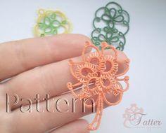 Tatting pattern Maple Leaf Pendant by JTatter on Etsy