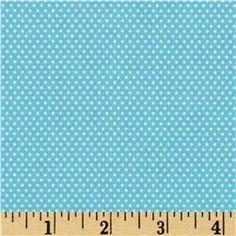 Santa's Workshop Mini Dot Blue fabric