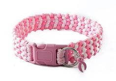 Show your pride! Zany Zaks Pretty in Pink beaded dog collar has pink and white beads with pink cord. This collar comes with a sturdy pink side release buckle. It also comes with a pink breast cancer ribbon charm! Twenty five percent of proceeds from the sales of this collar will go towards breast cancer research and awareness.  Our collars and leashes feature: Durable contoured quick release buckle. Long wearing UV filtered cording that resists mold and mildew. Durable steel welded D rings…