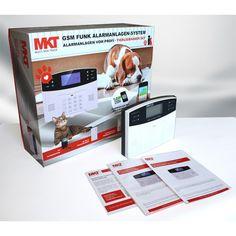 Tierliebhaber Set * GSM Funk Alarmanlagenssystem mit LCD Display * inkl. 4x Tierimmuner-Bewegungsmelder