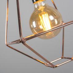 Lámpara colgante FRAME A cobre #iluminacion #decoracion #interiorismo