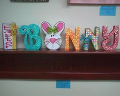 Easter Bunny Word I made for WOOD Creations