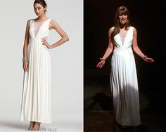 00db198debdb Lea Michele as Rachel Berry on Glee - White dress from