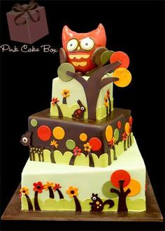 ♥❤Forest animals are hiding on this cake, Oh my!♥