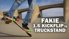 Fakie 1.5 Kickflip to Truckstand: Sto Strouss || ShortSided – Brett Novak: Source: Brett Novak – Filmer. Skater. Hopeful Creator.