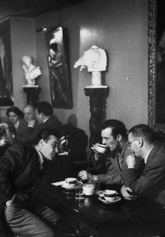 at The Peacock,an Italian coffee house in NYC 1953