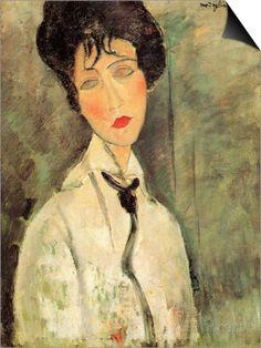 Portrait of a Woman with a Black Tie Affiches par Amedeo Modigliani sur AllPosters.fr