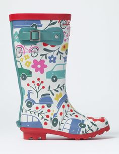 No problem. With these printed wellies, that just means more fun jumping in puddles. These playful designs match our umbrellas for the perfect wet-weather kit and have buckle straps for a great fit. Wellies Boots, Shoe Boots, Mini Boden, Girls Accessories, My Baby Girl, Sock Shoes, Girls Shoes, Rubber Rain Boots, Little Girls