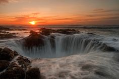 Thor's Well, Oregon Coast  by Lance Rudge...visit this place