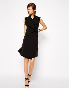 Enlarge ASOS Shift Dress with Cowl Neck