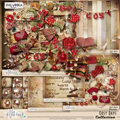 Cosy Days Collection by Palvinka Designs   Digital Scrapbook @ at The Digichick