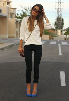 Klein  , Zara in Heels / Wedges, Pull & Bear in Jeans, H Men in Sweaters