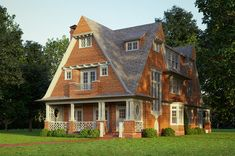 ' Hiland Hall Turner Architects, P. Shingle Style Architecture, Shingle Style Homes, Residential Architecture, Architecture Details, Lake Cottage, Cottage Homes, Style At Home, Big Houses, Classic House
