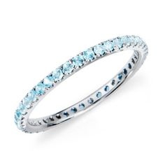 Aquamarine band - this is the extra band I will wear with my wedding band for my sons birthstone