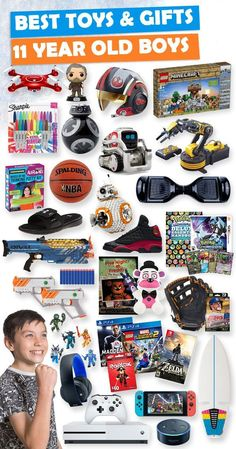 Browse our Gift Guide featuring 300+ Best Gifts For Boys. Discover unique gifts, fun kids games, kids books, and more for your 11 year old boy. These are gifts that not only will light up his eyes, but gifts he will truly love. Make his Birthday or Christmas extra magical with these slam-dunk picks he'll love! #birthdaygifts #christmasgifts #giftguide #giftideasforkids