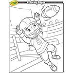 Coloring Pages   crayola.com football wide reciever coloring sheet