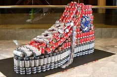 Recycled can sculptures