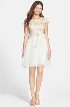 Ivy & Blu Lace Bodice Fit & Flare Dress | Nordstrom