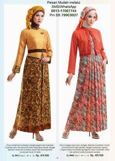 50 Gambar Model Baju Batik Gamis Kombinasi Terbaru  6f61405066