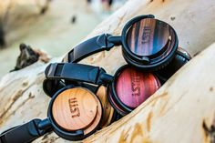 Beautiful headphones made with reclaimed wood help to fund hearing restoration