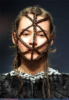 More inspiration for braid masks, especially since they add a little oomph to our Vampires who don't wear prosthetics