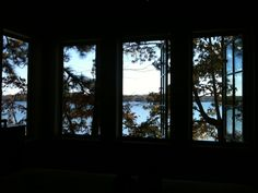 Views from guest bed in LEED lake cabin- inspired by the sleeping porches in a historic cherokee bluff infirmary - nature heals!