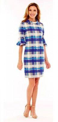 Sara Campbell Blue Plaid Dress