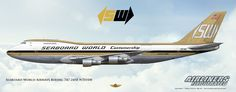 Seaboard World Airways Boeing Airliner Art Cargo Aircraft, Boeing Aircraft, Best Airlines, Cargo Airlines, Camouflage, Airline Logo, Old Planes, Airplane Photography, Airports