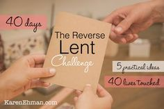 This year for Lent, don't give something up. Take something on. For the last two years during the Lenten season leading up to Easter, I have tried a new spiritual practice. While I did not gr…