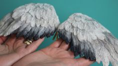 Wing Tutorial - Renata Jansen One of a Kind OOAK Paintings in Clay - Polymer Sculptures Mixed Media Journal Cover Weeping Angel Wings Polymer Clay Kunst, Polymer Clay Dolls, Polymer Clay Projects, Polymer Clay Creations, Clay Crafts, Bjd, Sculpting Tutorials, Clay Tutorials, Biscuit
