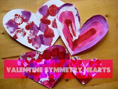 Valentine symmetry art: beautiful valentine craft for kids