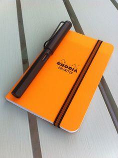 Rhodia Unlimited... Rhodia, orange, grid... perhaps THE ultimate fashion accessory