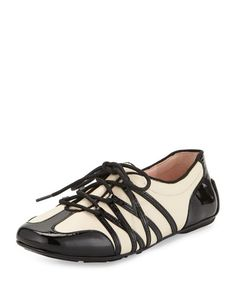 Candyce Lace-Up Sneaker, Black/Bone