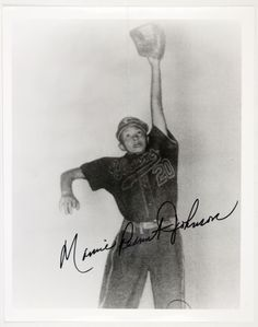 """Mamie """"Peanut"""" Johnson, 1953. 2nd of 3 women to play in the Negro Baseball League. Being 5' 3"""" is why she was nicknamed Peanut. Played for the Indianapolis Clowns 1953-1955, 33-8 won-loss record and a batting average of .273."""