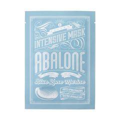 BLITHE Abalone Intensive Mask Ultra-Hydrating & Anti-polluaging : Un masque en tissu hydratant et purifiant à la mucine d'ormeau, au collagène marin et à l'acide hyaluronique.