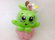 Balloon art, amazing, cool, party, splendid balloons, John Justice, cute, adorable, amazing, California, riverside, Rancho Cucamonga, rancho, fun, gags, Cali, shopkins, cute, shop, kins, Apple, big eyes, worm, green, bracelet