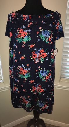 6173eef6e0c Womens dress Blue with floral design size M by SO  fashion  clothing  shoes