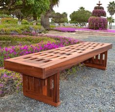 Wood for bench,garden bench designs,painted wood bench,small outdoor bench Outdoor Garden Bench, Wooden Garden Benches, Pallet Garden Furniture, Outdoor Furniture Plans, Patio Bench, Diy Bench, Outdoor Decor, Garden Seating, Cedar Furniture
