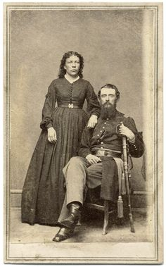 The war record of Maj. William Henry Jenkins of the Pennsylvania Cavalry, pictured here with his wife Mary Ann, is worthy of note. Unknown Soldier, Shiloh, American Civil War, Old West, Historical Society, Historian, Historical Photos, Black And White, Vintage