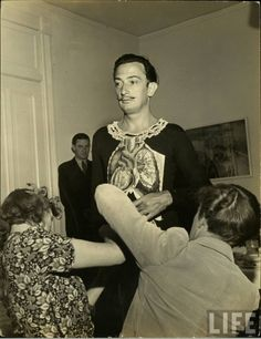 Dali's Bad Dream Party the infamous Surrealist party thrown by Salvador Dali and Gala Dali at the Del Monte Lodge in Pebble Beach, California in 1941 Photographer: Hansel Mieth