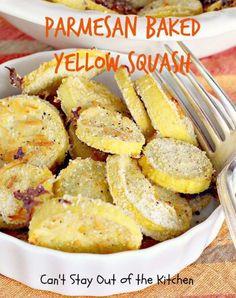 Parmesan Baked Yellow Squash