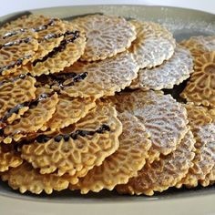 Mario Batali's Pizzles (Italiam Waffle Cookies)...yummy...just like my Mom used to make