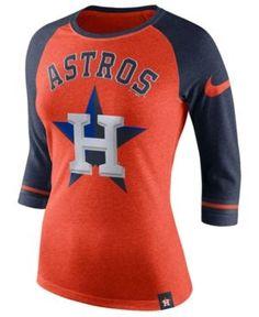4e92ba31a1f Nike Women s Houston Astros Tri Raglan T-Shirt   Reviews - Sports Fan Shop  By Lids - Men - Macy s