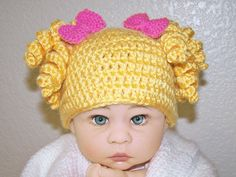 Goldilocks crochet baby hat. $23.00, via Etsy.