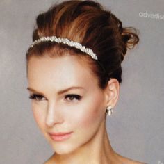 up-do with pretty headband
