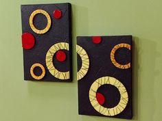 OS MELHORES ARTESANATOS: Vamos fazer quadros com formas geométricas reciclando bandejinhas de isopor!