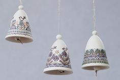 White ceramic bell by CeramicsLT on Etsy