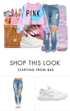 """cotton candy sweet N low "" by jay2bomb ❤ liked on Polyvore featuring NIKE and Chicnova Fashion"