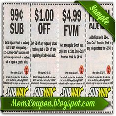 Subway 10 off 50 coupon code February 2015 | Local Coupons ...